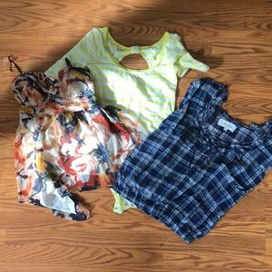 Lot of 3 tops Abercrombie Girl L/ XL